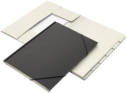 Combinatiemap 7-vaks met tab folio zwart