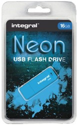 USB-stick 2.0 Integral fd 16GB neon blauw