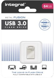 USB-stick 3.0 Integral fd 64GB metal fusion