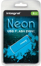 USB-stick 2.0 Integral 8GB Neon blauw