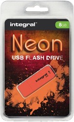 USB-stick 2.0 Integral 8GB Neon oranje