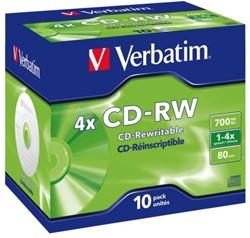 CD-RW Verbatim 700MB 12X 10pk jc
