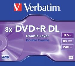 DVD+R Verbatim 8.5GB 8X double layer 5pk jc