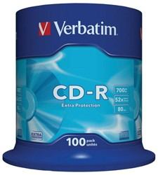 CD-R Verbatim 700MB 52X 100pk spindel