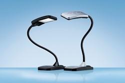 Bureaulamp Hansa led Twist zilver