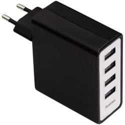 Oplader Hama 4x USB 5V 5.1A zwart