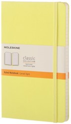 Notitieboek Moleskine large lijn citroengeel