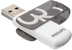 USB-stick 2.0 Philips Vivid Key Type 32GB grijs