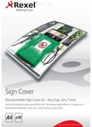 Lamineerhoes Rexel Signcover A4 standaard mat pk/10