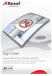 Lamineerhoes Rexel Signcover A4 hangend pk/10