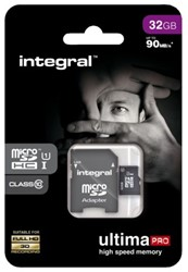 Geheugenkaart Integral micro sdhc 32gb ultimapro CL10