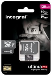 Geheugenkaart Integral micro sdhx 128gb ultimapro CL10