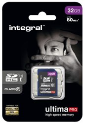 Geheugenkaart Integral sdhc 32gb ultimapro CL10