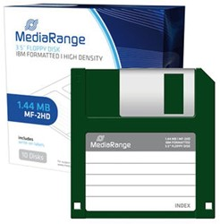 Diskettes 3,5i.DS/HD Mediarange ds/10