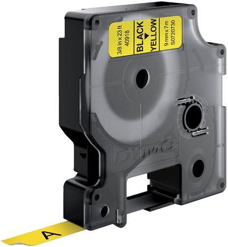 Dymotape D1  9mm zwart op geel 40918