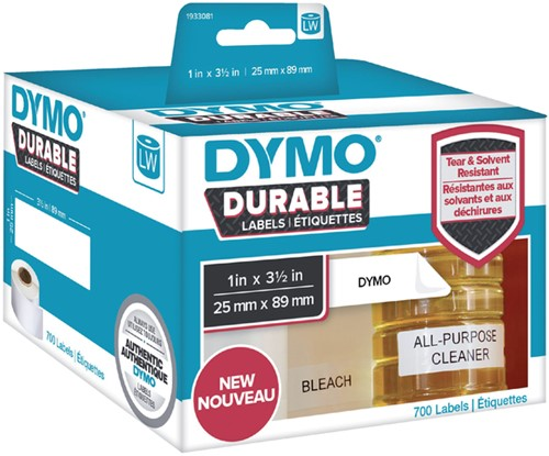 Etiket Dymo  25x89mm 1933081 duurzaam rol/700