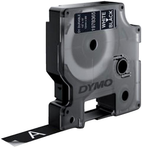 Dymotape D1 12mm wit op zwart duurzaam 1978365