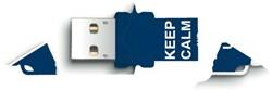 USB-stick 2.0 Integral fd xpression keep calm 8GB blauw