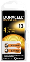 Batterij Duracell DA13 hearing aid pk/6