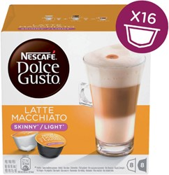Dolce Gusto late macchiato light 16 cups / 8 dranken