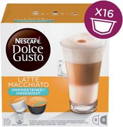 Dolce Gusto late macchiato unsweetened 16 cups / 8 dranken