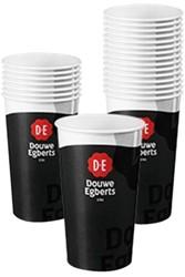 Beker paper cups Douwe Egberts 180cc pk/100