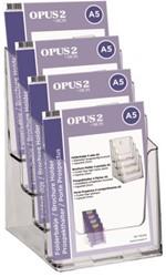 Folderhouder OPUS 2 4vaks A5 acryl