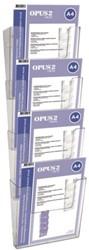 Folderhouder OPUS 2 A4 wand staand koppelbaar acryl ds/4