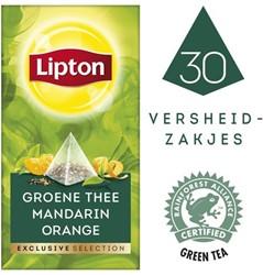 Thee Lipton Exclusive groene thee mandarijn pk/30