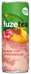 Fuze Tea perzik hibiscus blikje 0,25L - 2+1 tray gratis