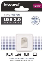 USB-stick 3.0 Integral fd metal fusion 128GB zilver