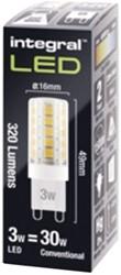 Ledlamp Integral G9 3W 4000K 320lumen dimbaar koel licht