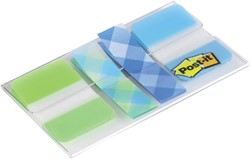Indextabs 3M Post-It 686 Plaid blauw groen