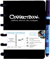 Correctbook A6 blanco zwart