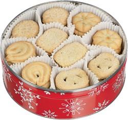 Koekjestrommel gevuld met Deense koekjes