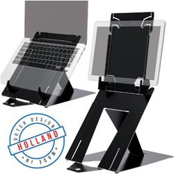 Ergonomische laptopstandaard R-Go Tools Riser Duo zwart