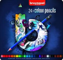 Kleurpotlood Bruynzeel Teens blauw assorti ds/24
