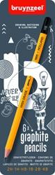 Potlood Bruynzeel Teens grafiet assorti ds/6