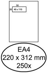 Enveloppen akte 220x312mm Hermes venster links zelfklevend ds/250
