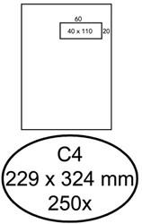 Enveloppen akte 229x324mm Quantore venster rechts zelfklevend ds/250