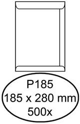 Envelop Hermes Akte P185 - 185x280mm 100gr - wit - 500 stuks