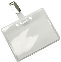 Badge 78x95mm clip soft pvc