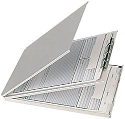 Klembord aluminium met opbergvak