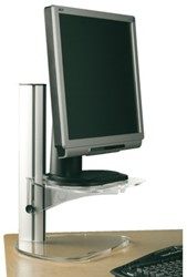 Monitorstandaard Opus 2 style verstelbaar alu acryl
