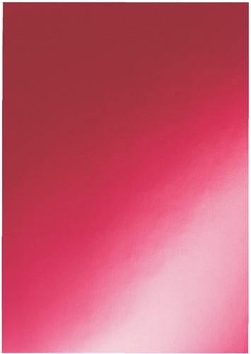 Schutbladen 250mic chromo rood pk/100