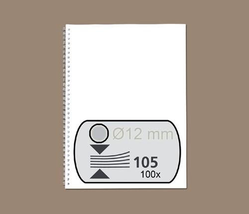 Bindruggen Wirebind 34r 12mm zilver Fellowes ds/100