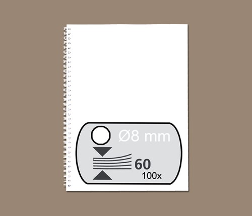 Bindruggen Wirebind 34r  8mm wit Fellowes ds/100