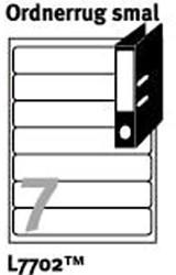 Ordnerrugetiketten voor printers