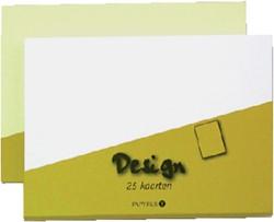 Kaarten enkel Papyrus design wit 105x148mm pk/25