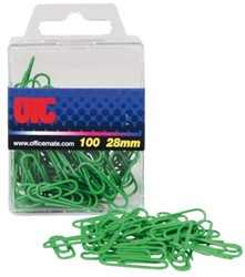 Paperclips 30mm groen ds/100